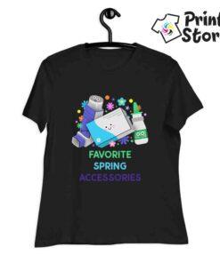 Favorite spring accessories - ženska crna majica