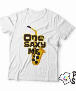 Muška bela majica One Saxy MF - Print Store