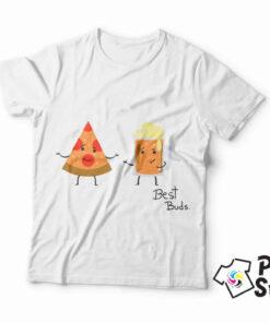 Best Buds, Pizza i pivo idealna kombinacija. Motivi hrane na majicama