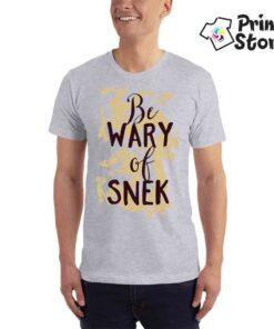 Be wary of snek - muška siva majica