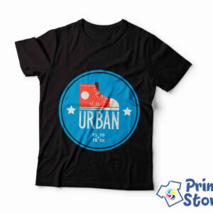 Muška crna majica Urban. Veliki izbor majica na jedno mestu. Online prodavnica Print Store