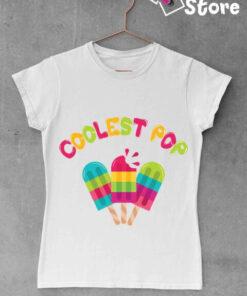 Ženska bela majica Coolest pop. Print Store online majice