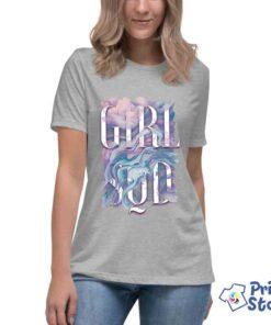 Siva ženska majica girl sqd