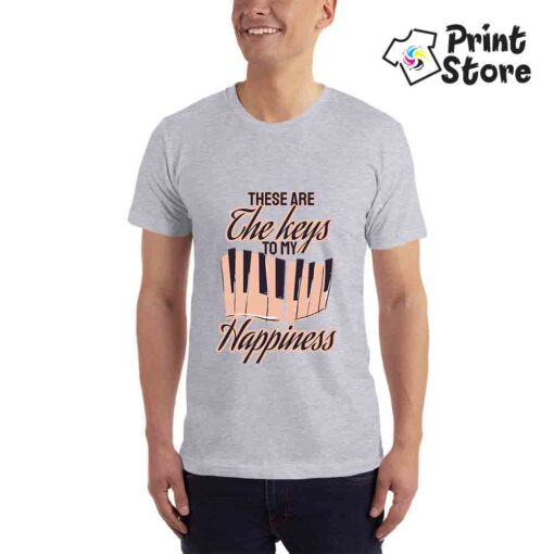 These are the keys to my Happiness - Muška siva majica