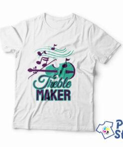 Treble maker muška bela majica - Print Store