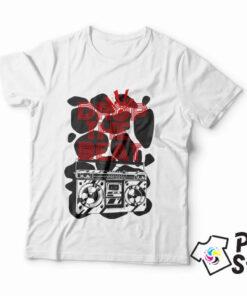 Muška majica sa štampom Drop the Beat