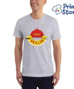 Muška siva majica King griller