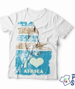 I love africa muška bela majica