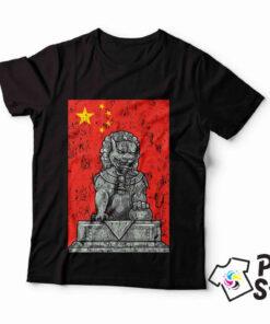 Muške crne majice Kina Print Store