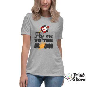 Fly me to the moon štampanje ženskih majica Print Store