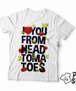 I love you form head tomatoes - muška majica