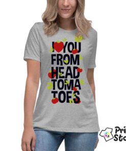 I love you form head tomatoes - ženske online majice