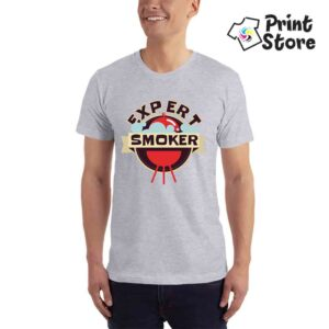 Expert smoker - siva muška majica
