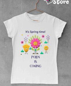 It's spring time - bela ženska majica