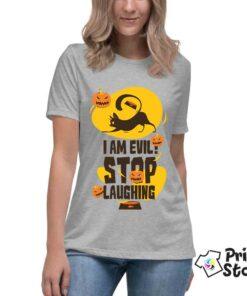 Majice za Halloween, online prodavnica majica Print Store. I am evil stop laughing