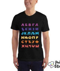 Azbuka na majicama, originalan poklon. Print Store online prodavnica