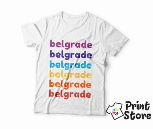 Belgrade muška majica. Originalan poklon za goste Beograda. Online prodavnica Print Store
