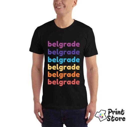 Muška crna majica Belgrade. Izaberite majice sa motivima glavnog grada Srbije, Beograda. Print Store online prodavnica