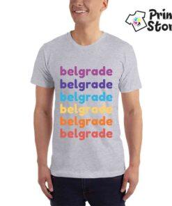 Belgade majica sa natpisom. Originalan poklon za posetioce Beograda.