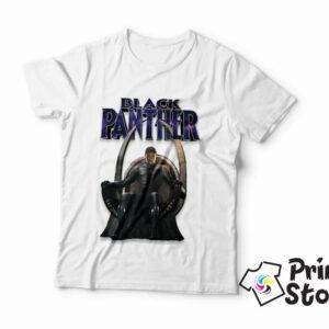 Black Panther muška bela majica sa motivom iz istoimenog filma. Print Store online prodavnica