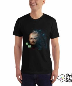 Muška crna majica sa motivom iz popularne serije Breaking bed. Online prodavnica Print Store