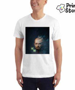 Muška bela majica sa motivom iz popularne serije Breaking bed. Online prodavnica Print Store