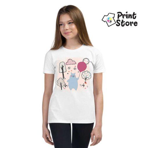 Majice za devojčice sa ilustracijom mede. Print Store online prodavnica