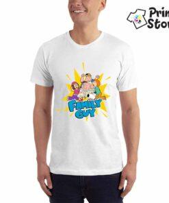 Motivi iz serije Family Guy. Muška bela majica Print Store