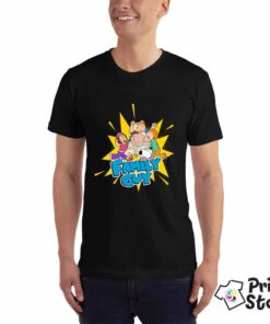 Motivi iz serije Family Guy. Muška crna majica Print Store