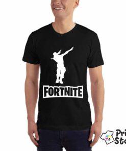 Fornite crna muška majica za gejmere. Print Store