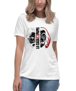 Ženska bela majica sa motivom popularne serije La casa de papel . Pronađite veliki izbor majica u online prodavnici Print Store