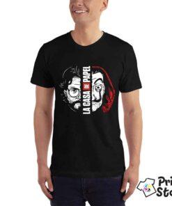 Crna muška majica sa motivom popularne serije La casa de papel . Pronađite veliki izbor majica u online prodavnici Print Store