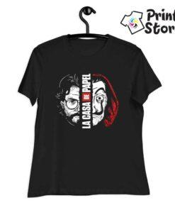 Ženska crna majica sa motivom popularne serije La casa de papel . Pronađite veliki izbor majica u online prodavnici Print Store
