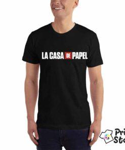 La casa de papel muške crne majice. Print Store