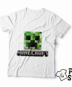 Bela muška majica Minecraft. Print Store