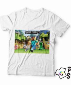 Bela muška majica MInecraft, možete pronaći ostale modele u online prodavnici Print Store