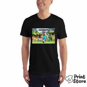 Crna muška majica MInecraft, možete pronaći ostale modele u online prodavnici Print Store