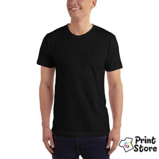 Muška crna basic majica kratak rukav, 100% pamuk vrhunski kvalitet. Print Store online prodavnica