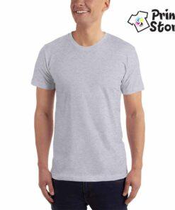 Muška siva basic majica kratak rukav, 100% pamuk vrhunski kvalitet. Print Store online prodavnica