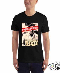 Muška crna majice sa motivom iz Narcos serije.Pablo Escobar