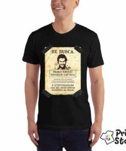 Muške majice sa motivima iz popularne serije Narcos. SE BUSCA Pablo Emilio Escobar Gaviria