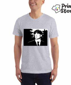 Muška siva majica Peaky Blinders crni portret. Print Store prodavnica