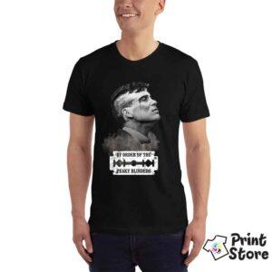 Muška crna majica sa štampom Peaky Blinders. Print Store prodaja majica