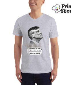Muška siva majica sa štampom Peaky Blinders. Print Store prodaja majica