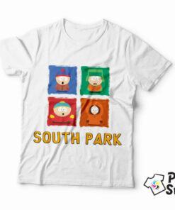 Muška bela majica sa motivom iz popularne animirane američke serije South Park. Online prodavnica Print Store
