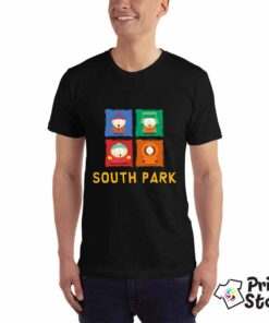 Muška crna majica sa motivom iz popularne animirane američke serije South Park. Online prodavnica Print Store