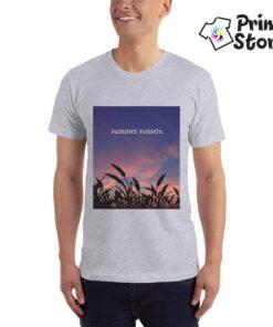 Summer sunset muška siva majica