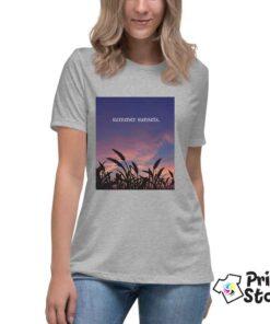 Summer sunset ženska siva majica