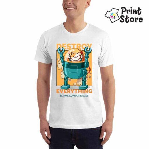 Muška majica - Destroy everything - smešne majice
