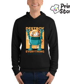 Crni duks Destroy everything, Print Store prodavnica dukseva